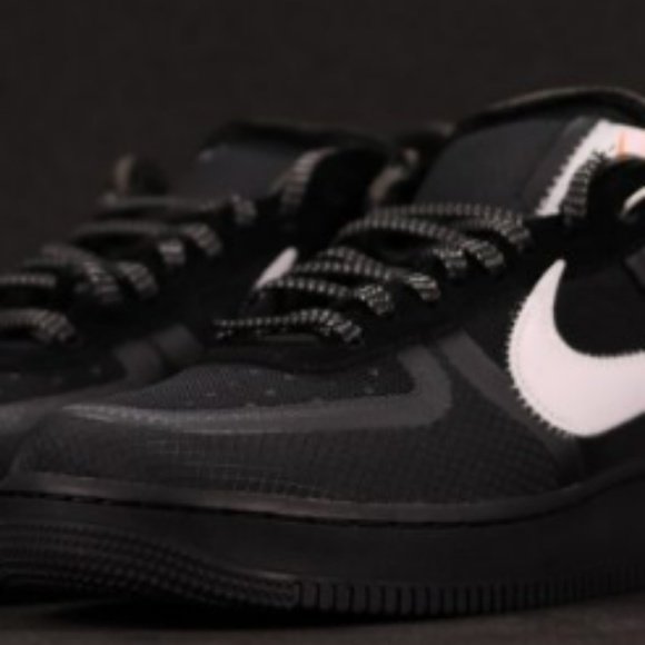official photos eb266 c38a8 Off-White x Nike Air Force 1 Low Black For Sale. Boutique